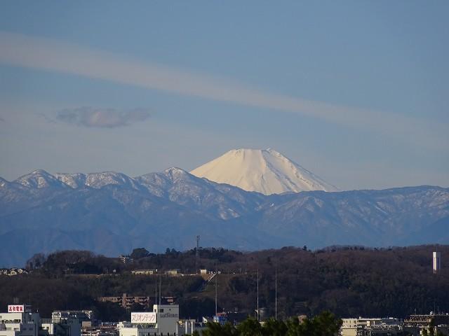 狛江市からの富士山と素晴らしい景色
